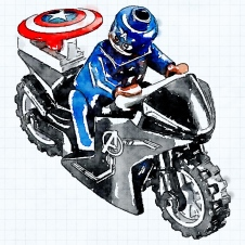 Turbo Tidy Captain America